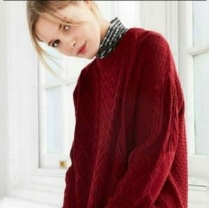 BDG | Brick Red Fall Sweater | Elbow Patches